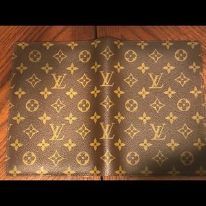 Auth Louis Vuitton Agenda diary cover notebook